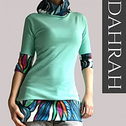 Beautiful green lady spring summer sweater by Dahrah.