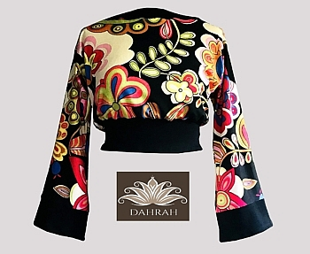 Beautiful and colorful crop top by Dahrah made of very fresh viscose jersey.